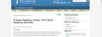 More e-book reading less on print